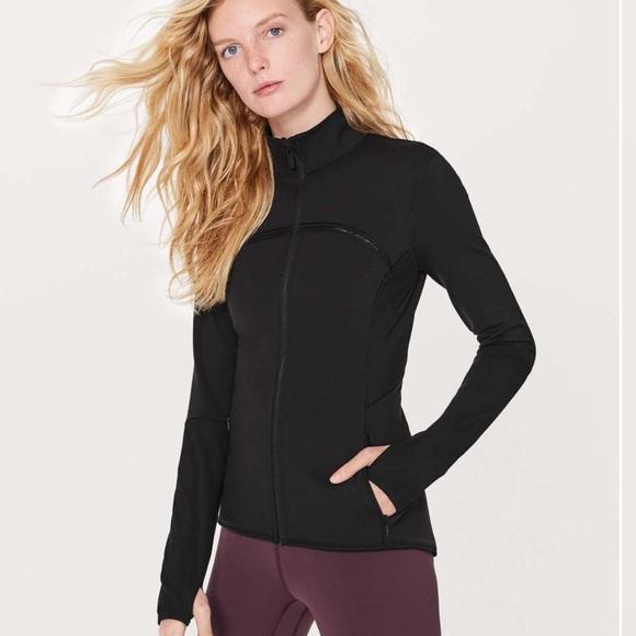 lululemon athletica Jackets & Blazers - Lululemon black Mesh is More form fitted jacket